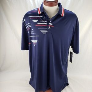 Men's Athletic Golf Polo by Ben Hogan Blue Red